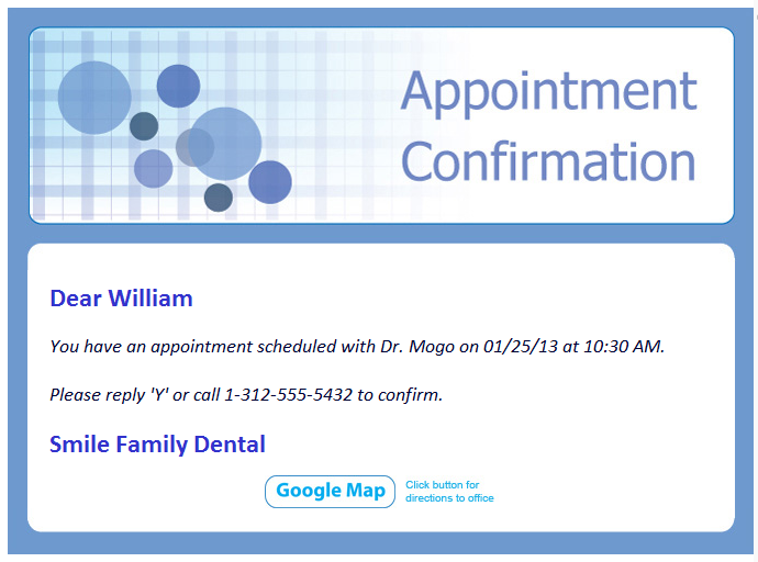 Dental Appointment Confirmation Email Related Keywords Suggestions