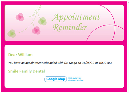 eReminders - Appointment Reminder