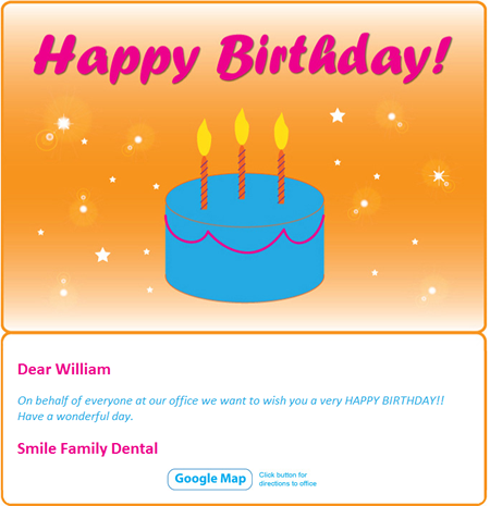 eReminders - Birthday Card