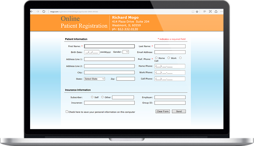 Dental Practice Management Software Online Medical History Feature