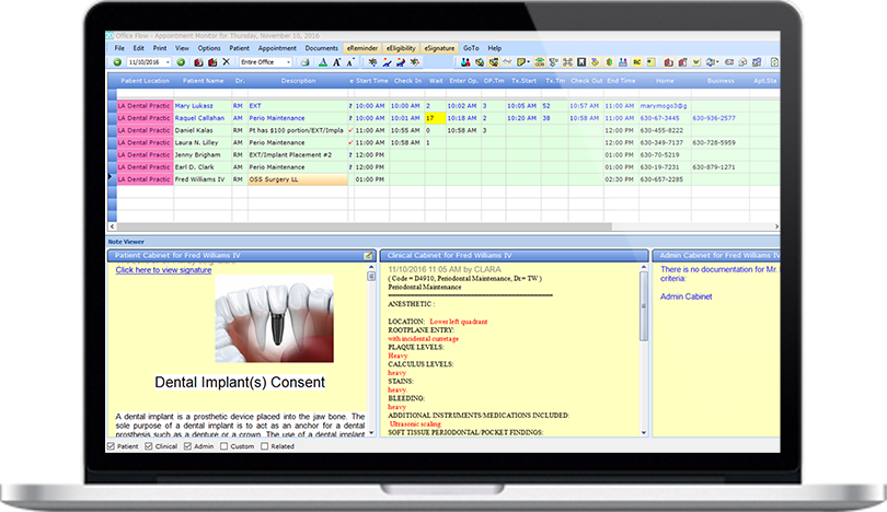 Cloud-Based Dental Practice Management Software Office Flow